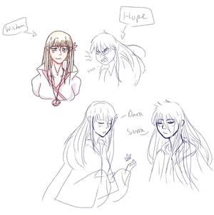 Wisdom vs Hope doodles