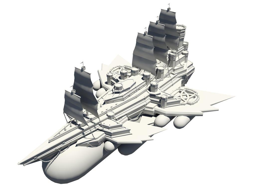 Flying Battleship Base Model by cmdesigna