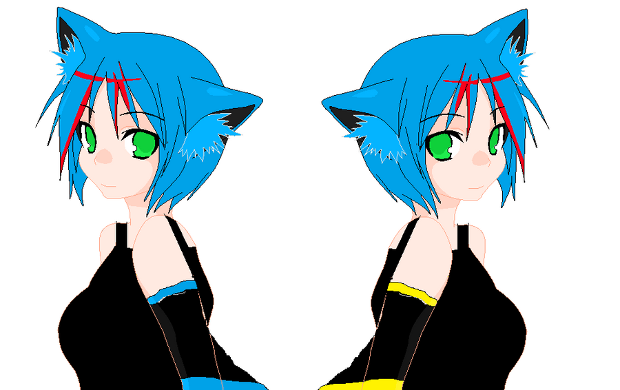 shadow-kat and sparky (with short hair base) by ...