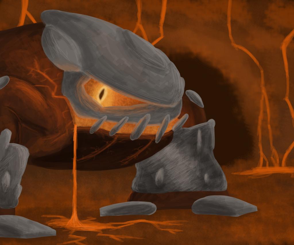 magma monster heatran by xiotax on deviantart