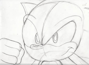 Sonic's ready for battle by Redfern05