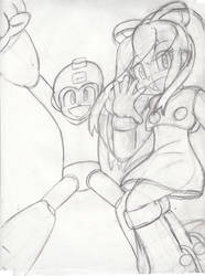 Megaman and Roll by Redfern05