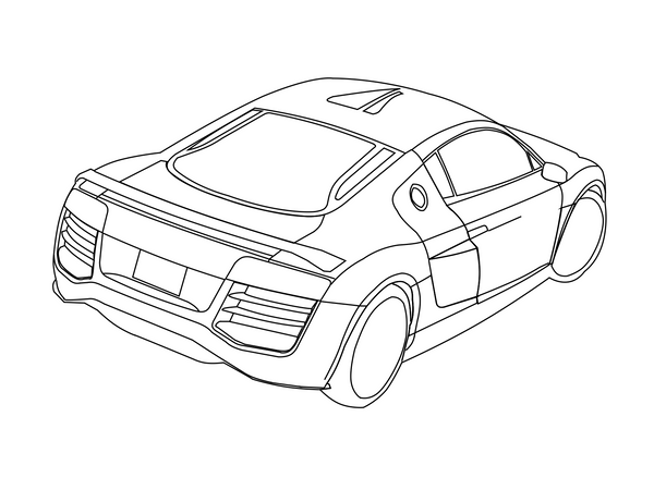 Audi r8 coloring book coloring pages for Audi r8 coloring pages