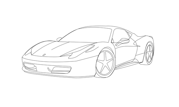 Pictures Of Ferrari Drawing Outline Rock Cafe