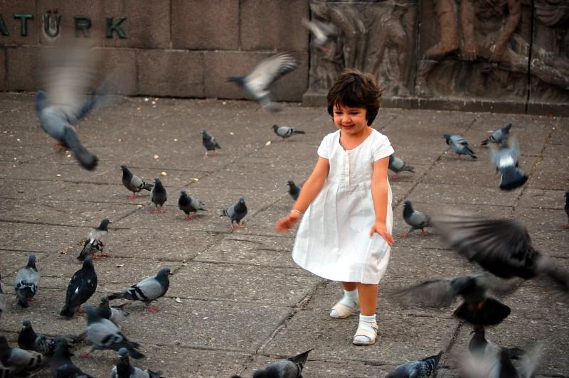Birds and the child by ganara
