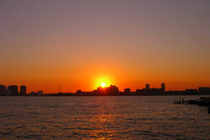 Hudson River NewYork Sunset by Jorlin