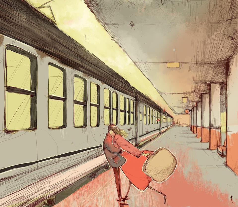 Abbraccio alla stazione dei treni by DanieleRaineriArt