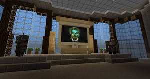 Mr. House from 'Fallout: New Vegas' in Minecraft