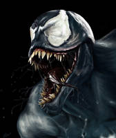 Speed painting Venom by DLL by Daviddleonluis