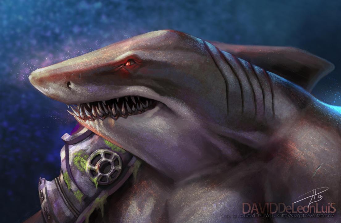 Sharktost (Street Sharks) by David De Leon Luis by Daviddleonluis