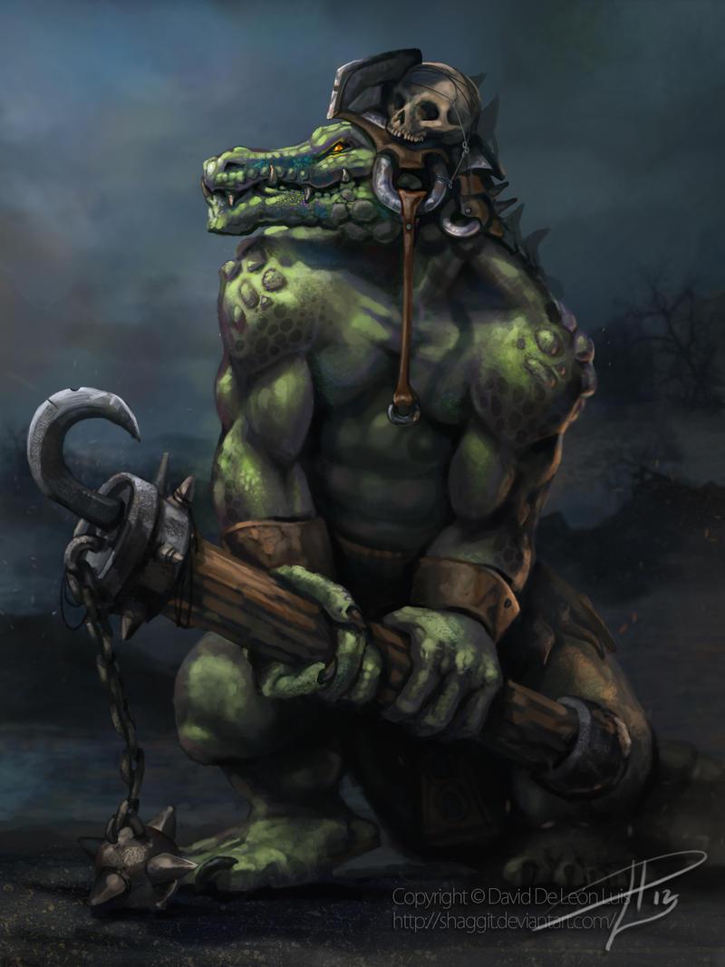 CROCODILE SOLDIER by David De Leon Luis by Daviddleonluis
