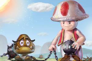 Toad, Mario bros 2 by David De Leon Luis #Nintendo by Daviddleonluis