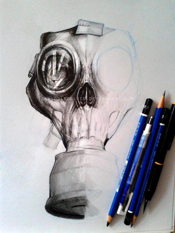 Evil Gas Mask Art Apoc...