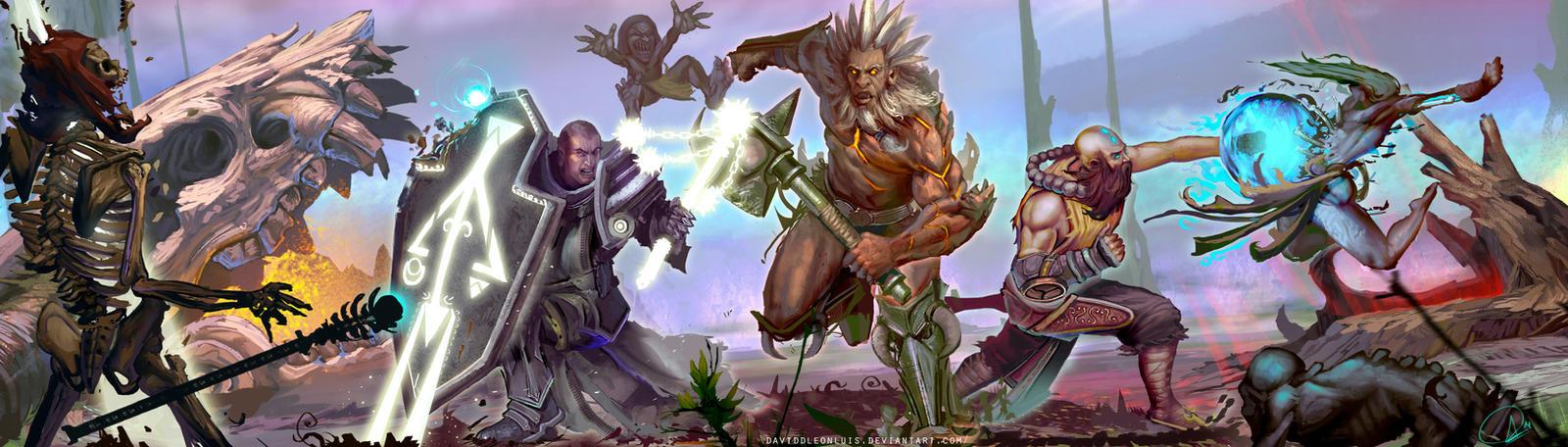 Diablo III - Reaper of Souls,  TendernessThreesome by Daviddleonluis