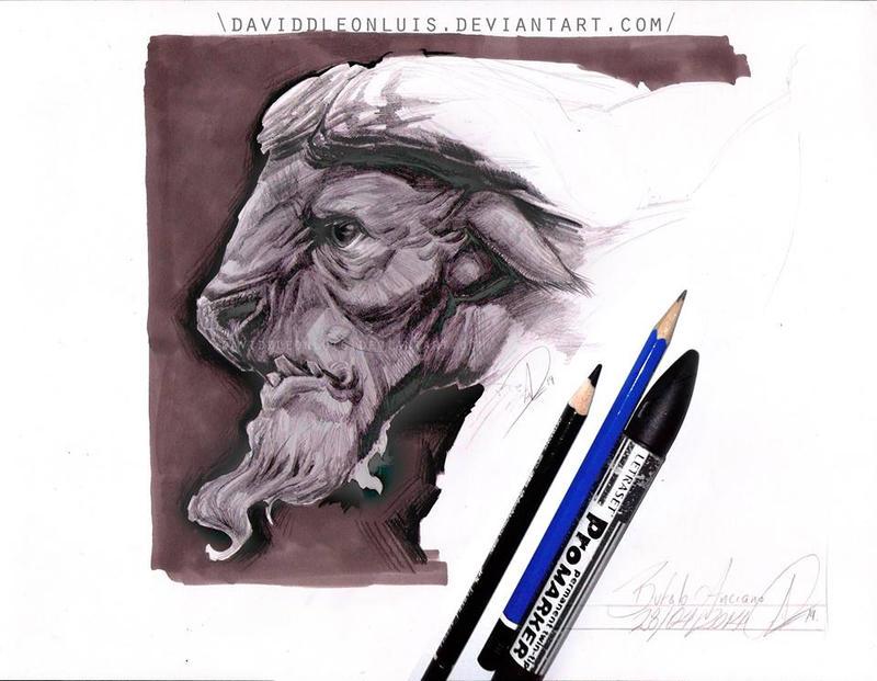 Old Buffalo by Daviddleonluis