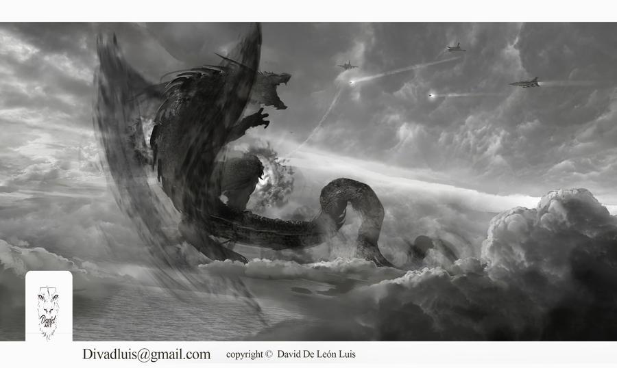 Something is in the sky. /// Hay algo en el cielo. by Daviddleonluis