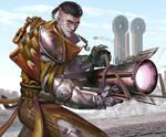 Outcast Odyssey Steampunk Bazooka Warrior entry 2