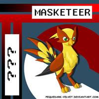 MASKETEER by PEQUEDARK-VELVET