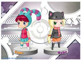 Fan Art .:Cone+Neko:. by PEQUEDARK-VELVET
