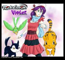 P-CV-C: Violet Trainer poster by PEQUEDARK-VELVET