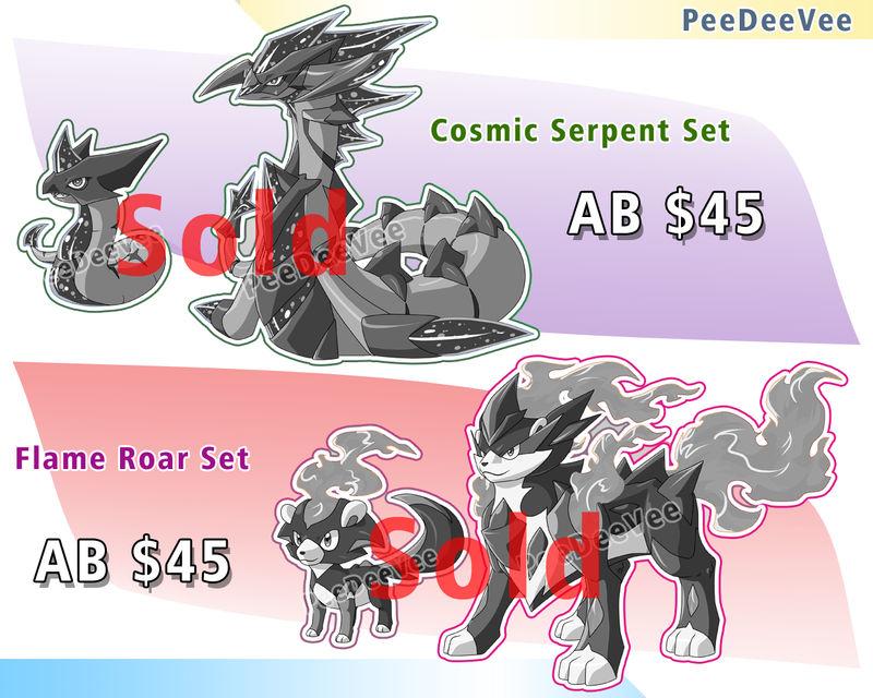 CLOSE Fakemon auction .:Cosmic+Flame:. CLOSE
