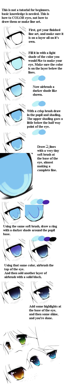 Anime Eye Coloring Tutorial by EatDicks