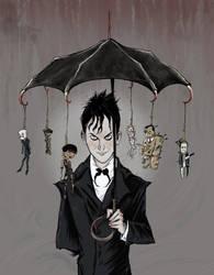 Penguin's Umbrella by Myrrha-Silvenia