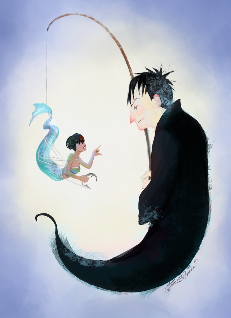 Penguin and fish by myrrha silvenia on deviantart for Penguin and fish