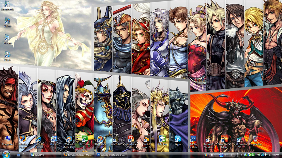 My Dissidia desktop by LOLOexists