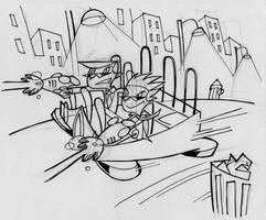 Doofus and Do-Right Sketch (1999) by AllanAlegado
