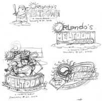 Orlando Meltdown Logo Sketches (2001) by AllanAlegado