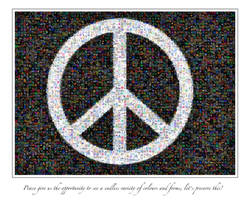 Peace Mosaic by chamathe