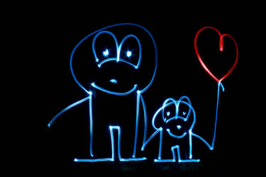 Light Painting - Forever in Love by chamathe