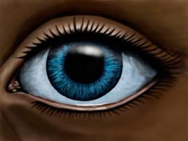 Eye drawn in dA Muro