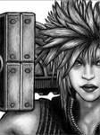 Cloud FF7 drawn with Tegaki by chamathe