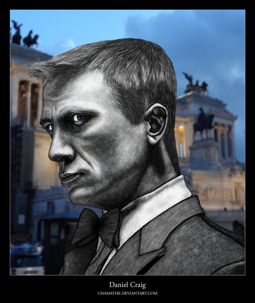 Digital Painting - Daniel Craig by chamathe