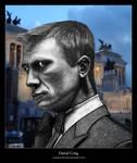 Digital Painting - Daniel Craig by chamathe