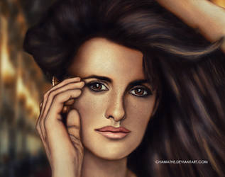 Penelope Cruz - Digital Painting - Attempt by chamathe