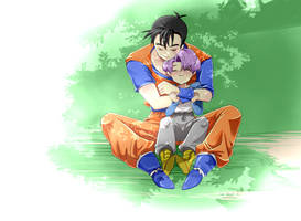 Gohan and Trunk in the future by Natsuhati