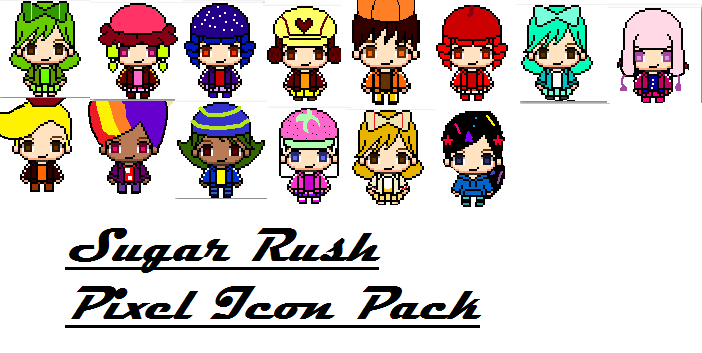 Sugar Rush Pixel Icon Pack by pizza-palace on DeviantArt