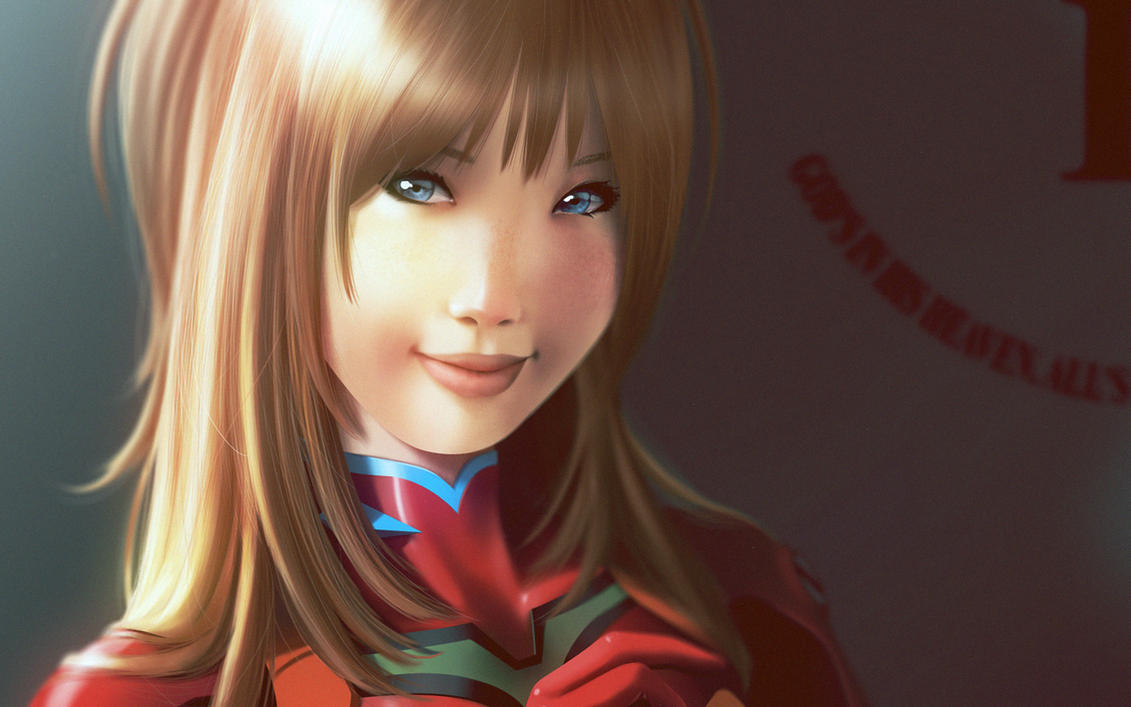 Asuka face detail by lenadrofranci