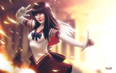 Sailor Mars by lenadrofranci
