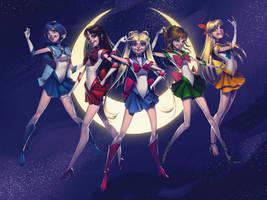Sailor Senshi 2016 by lenadrofranci