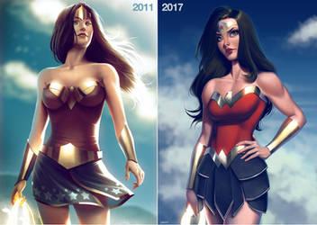 Wonder Woman 2011 vs 2017