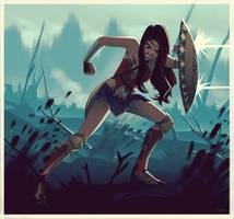 Wonder Woman in No Man's Land by lenadrofranci