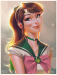 Sailor Jupiter Portrait by lenadrofranci