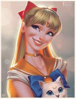 Sailor Venus Portrait by lenadrofranci