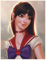 Sailor Mars Portrait by lenadrofranci