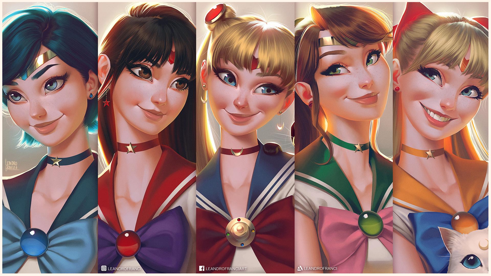Sailor Scouts Desktop Wallpaper by lenadrofranci