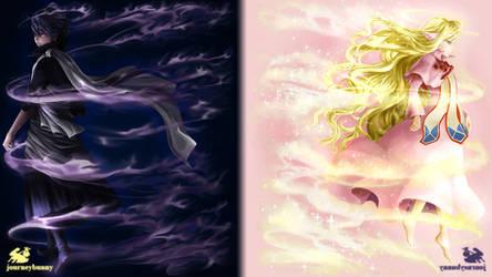 Zeref and Mavis - Commission (Fairy Tail Fan-Art)